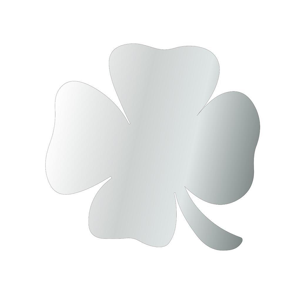 Trevo -  Produzido em acrílico espelhado.