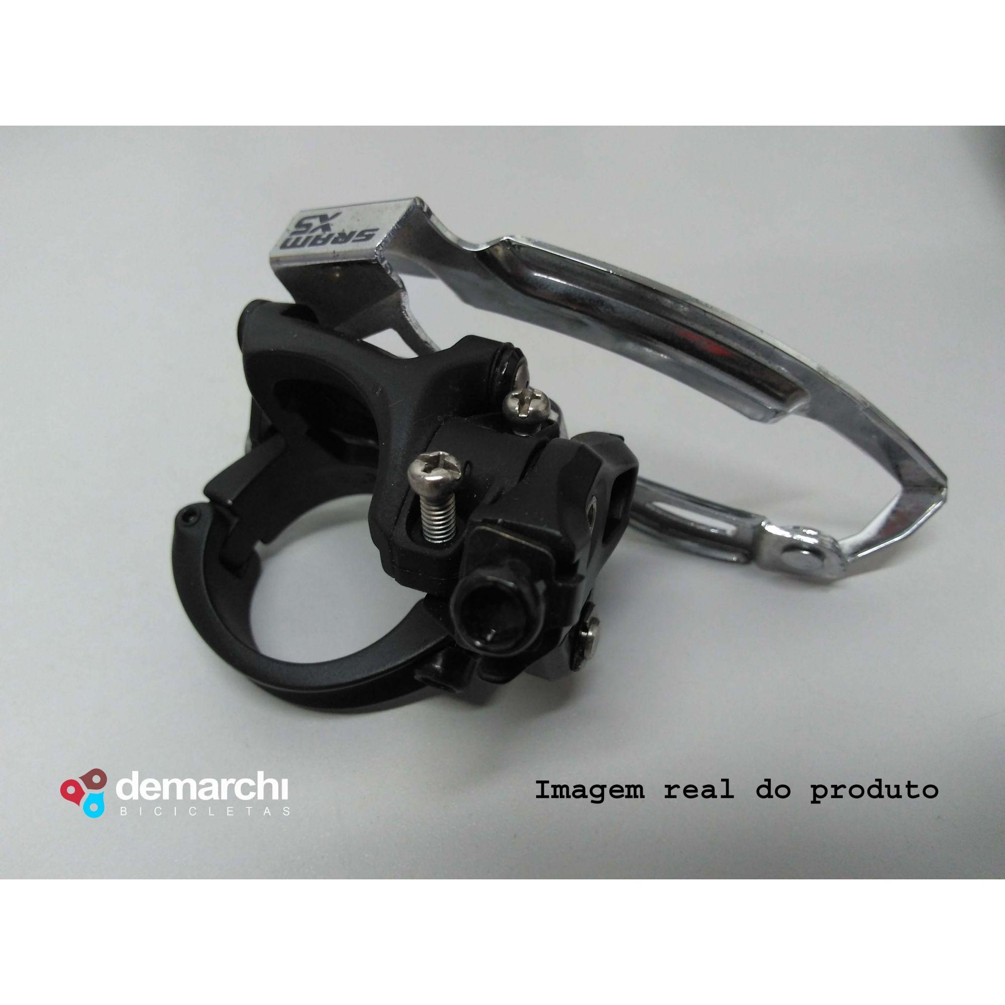 CAMBIO DIANTEIRO SRAM X5 3X10 34.9mm DUAL PULL(Semi-Novo)