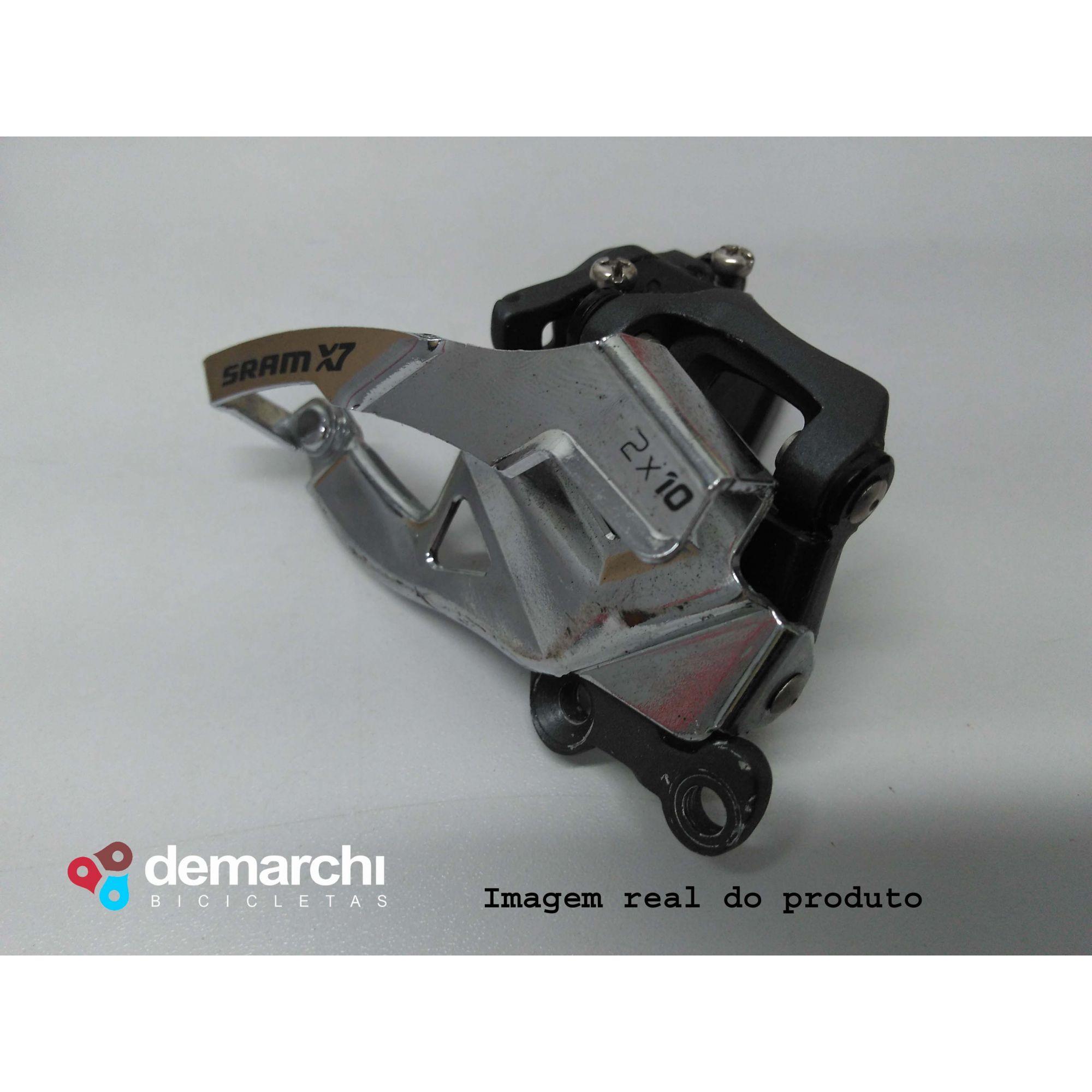 CÂMBIO DIANTEIRO SRAM X7 2X10 DIRECT MOUNT DUAL PULL(Semi-Novo)