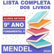 LISTA COMPLETA DE LIVROS 9º ANO ALUNOS ANTIGOS - FUNDAMENTAL 2