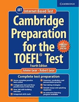CAMBRIDGE PREPARATION FOR THE TOEFL TEST WITH ONLINE PRACTICE TESTS - 4TH ED