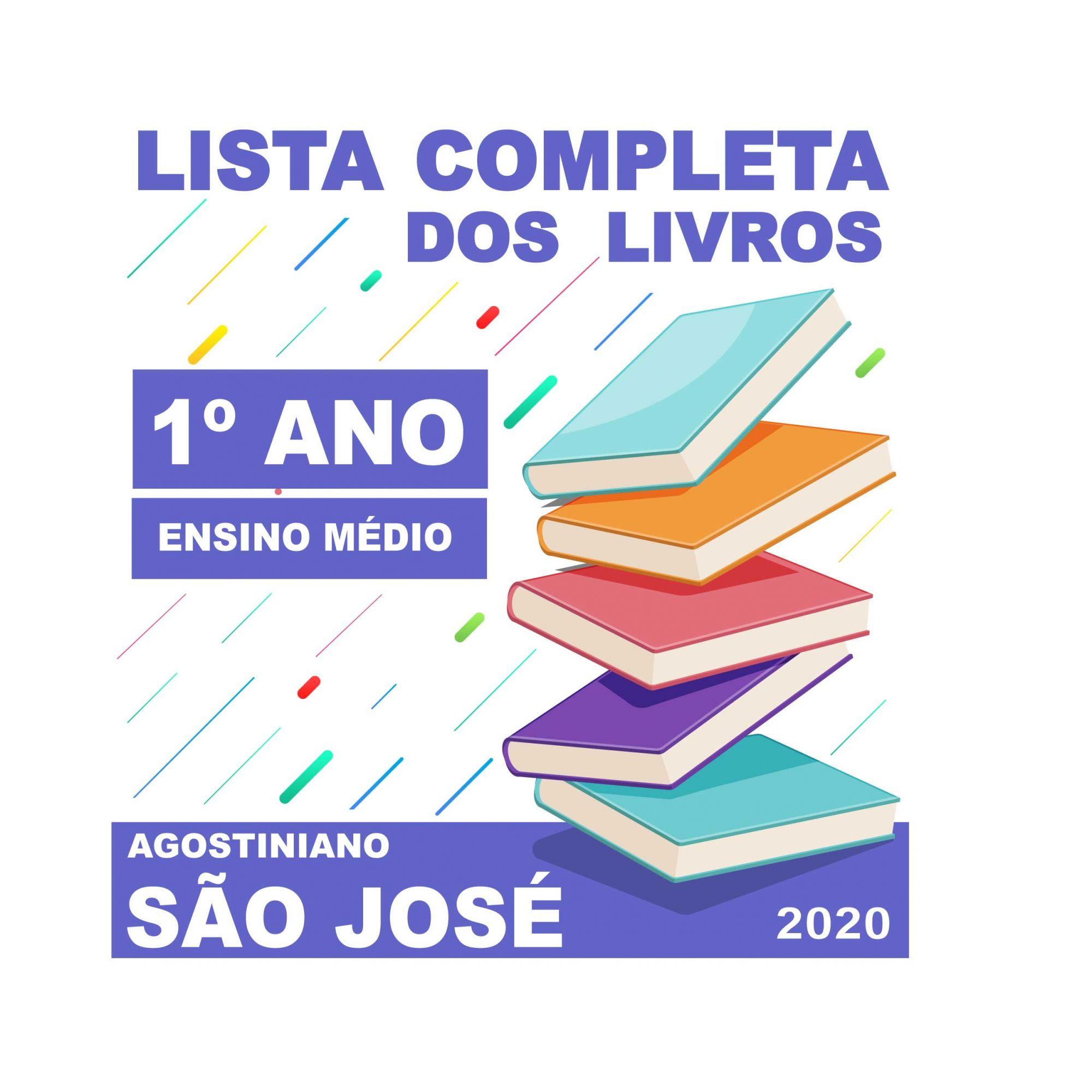LISTA COMPLETA DE LIVROS 1º ANO - ENSINO MÉDIO