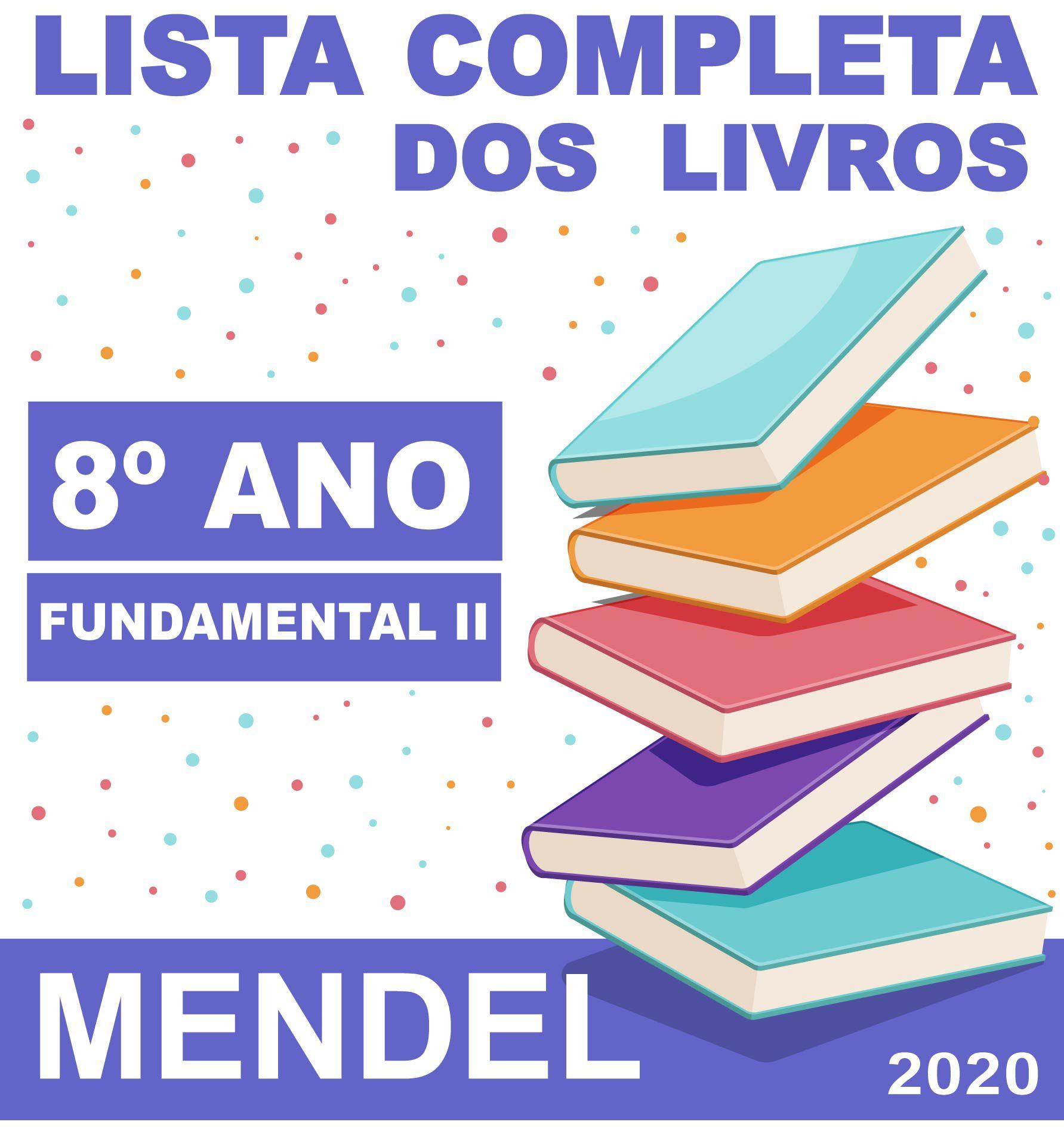LISTA COMPLETA DE LIVROS 8º ANO - FUNDAMENTAL 2