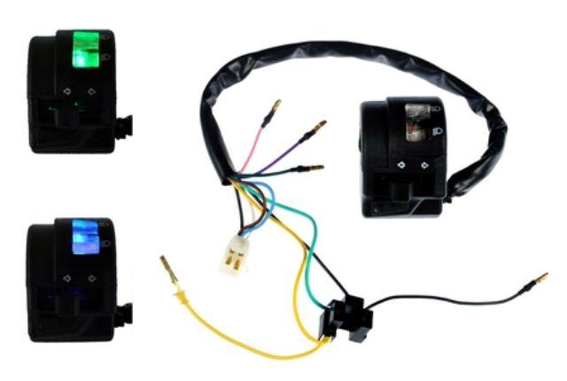PUNHO DE LUZ (COM LED) YAMAHA YBR 125 K / E / ED - YBR 125 FACTOR K / E / ED - XTZ 125 E / K - XTZ 125 X E / K