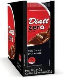CHOCOLATE 50 CACAU SEM LACTOSE ZERO AÇÚCAR 20GR DP 12 UNID