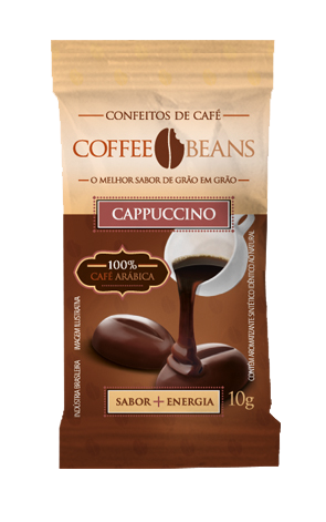 COFFEE BEANS CAPPUCCINO 10GR DP 15 UNID