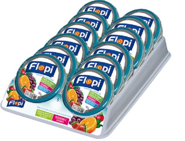 FLOPI FRUIT MIX SEM ACUCAR 40GR DP 12 UNID