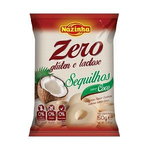 SEQUILHOS DE COCO SEM GLÚTEN E SEM LACTOSE 150GR
