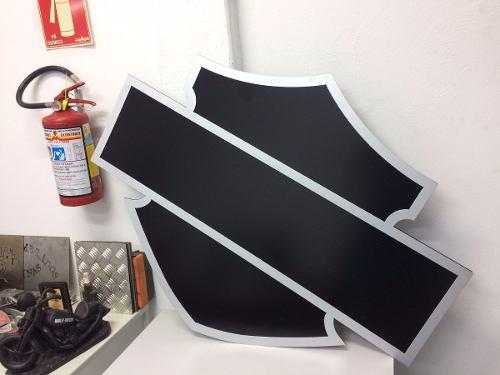 Placa Decorativa Harley Bar And Shield 115 X 88 Cm Em Aço.  - HDC Brasil
