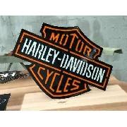 Placa Decorativa Harley-davidson Largura De 58 Cm Em Aço