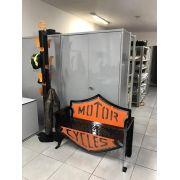 Banco Harley-Davidson 1,25m Preto/Laranja