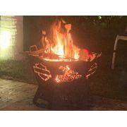 Fire Pit 60 cm - Lareira Externa -Fogo De Chão - Lenheiro
