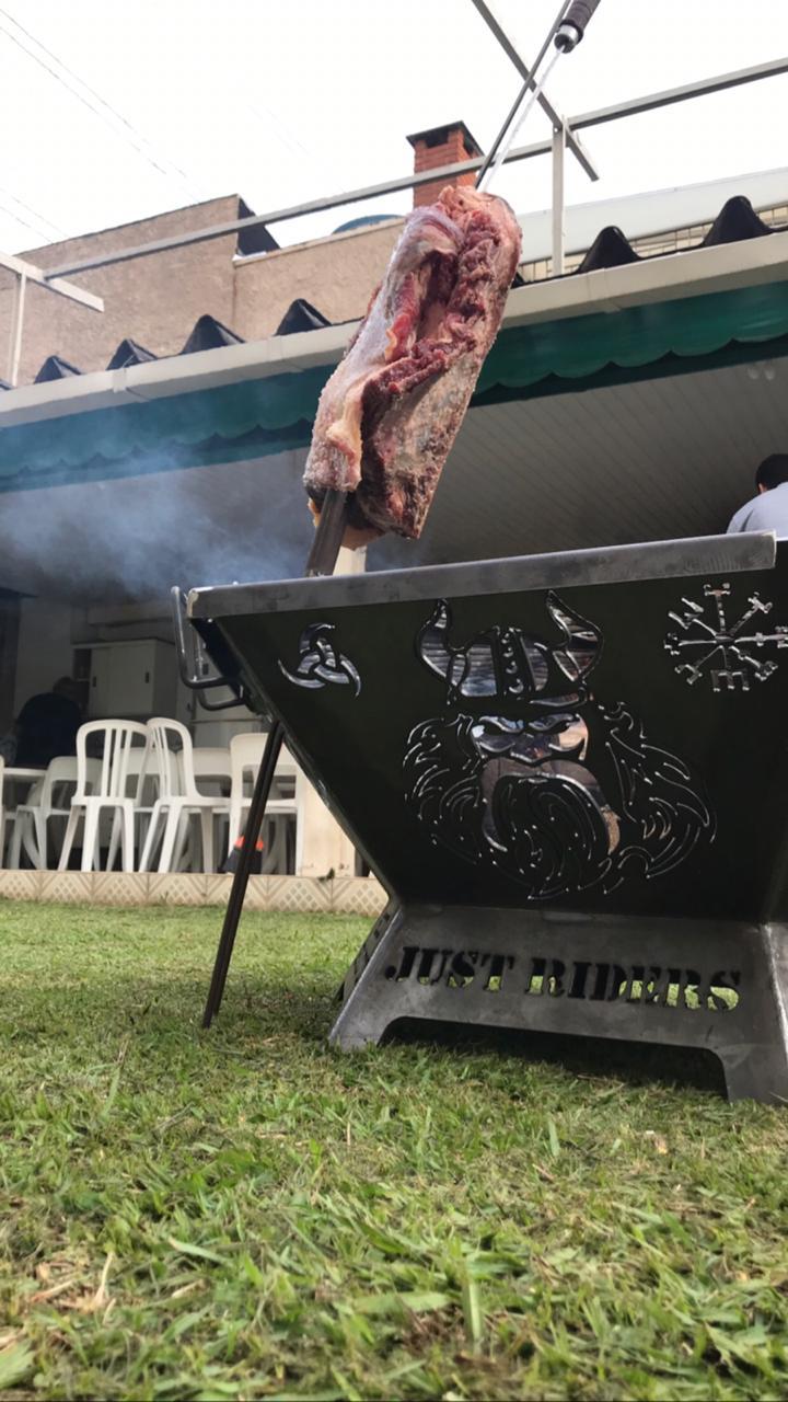 Fire Pit 100 cm - Lareira Externa -Fogo De Chão - Lenheiro  - HDC Brasil