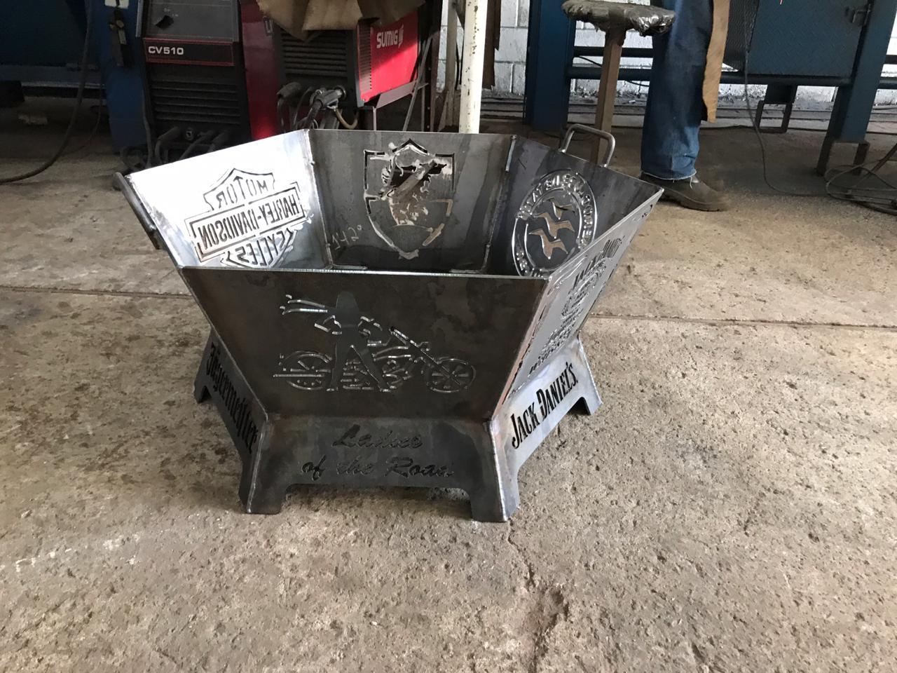 Fire Pit 60 cm - Lareira Externa -Fogo De Chão - Lenheiro  - HDC Brasil