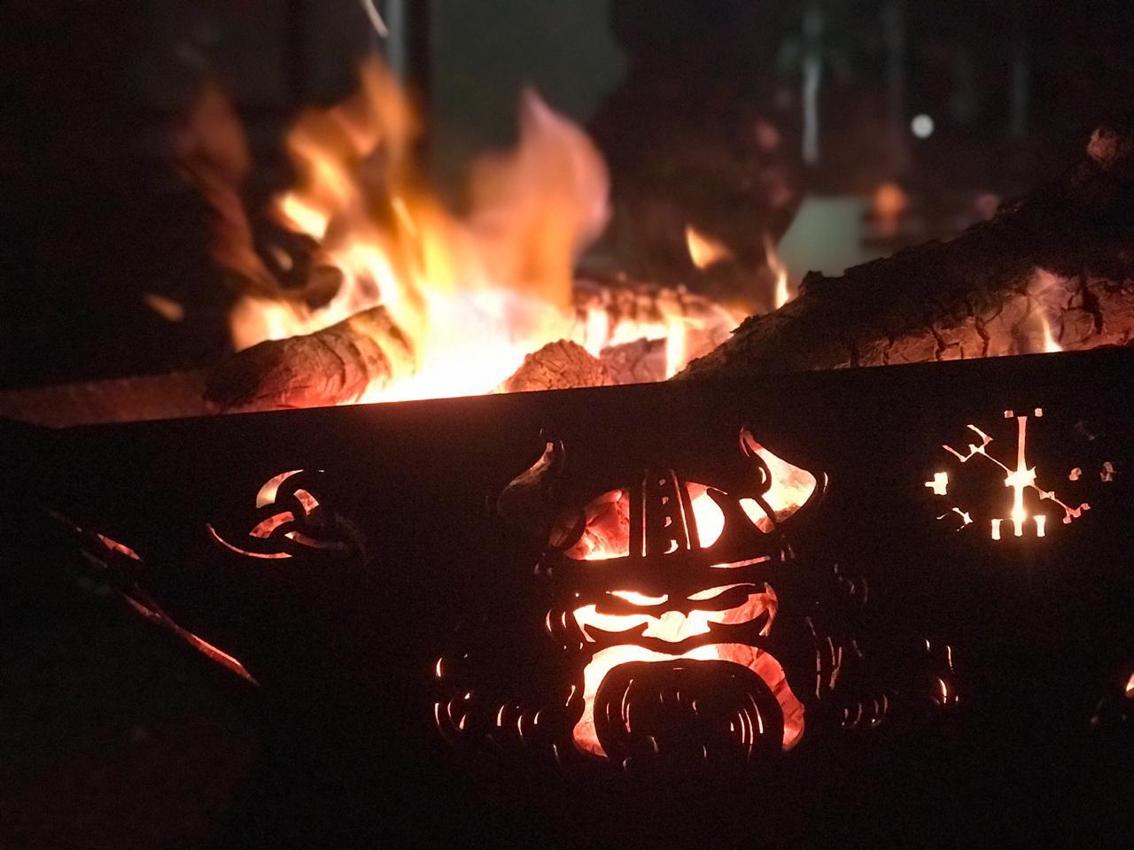 Fire Pit 80 cm - Lareira Externa -Fogo De Chão - Lenheiro  - HDC Brasil