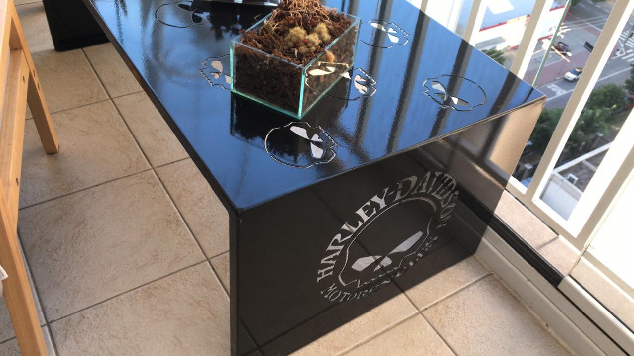 Mesa Harley-Davidson SKULL Em Aço Dobrado Reforçado  - HDC Brasil