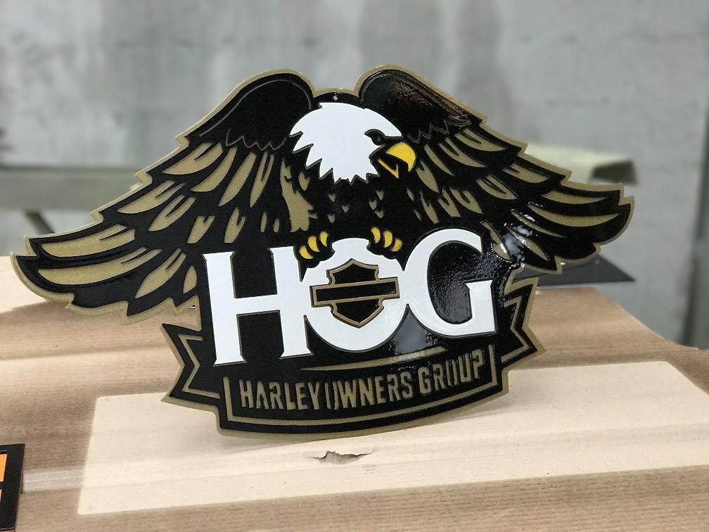Placa Decorativa HOG Harley Owners Group Largura De 58 Cm em Aço  - HDC Brasil