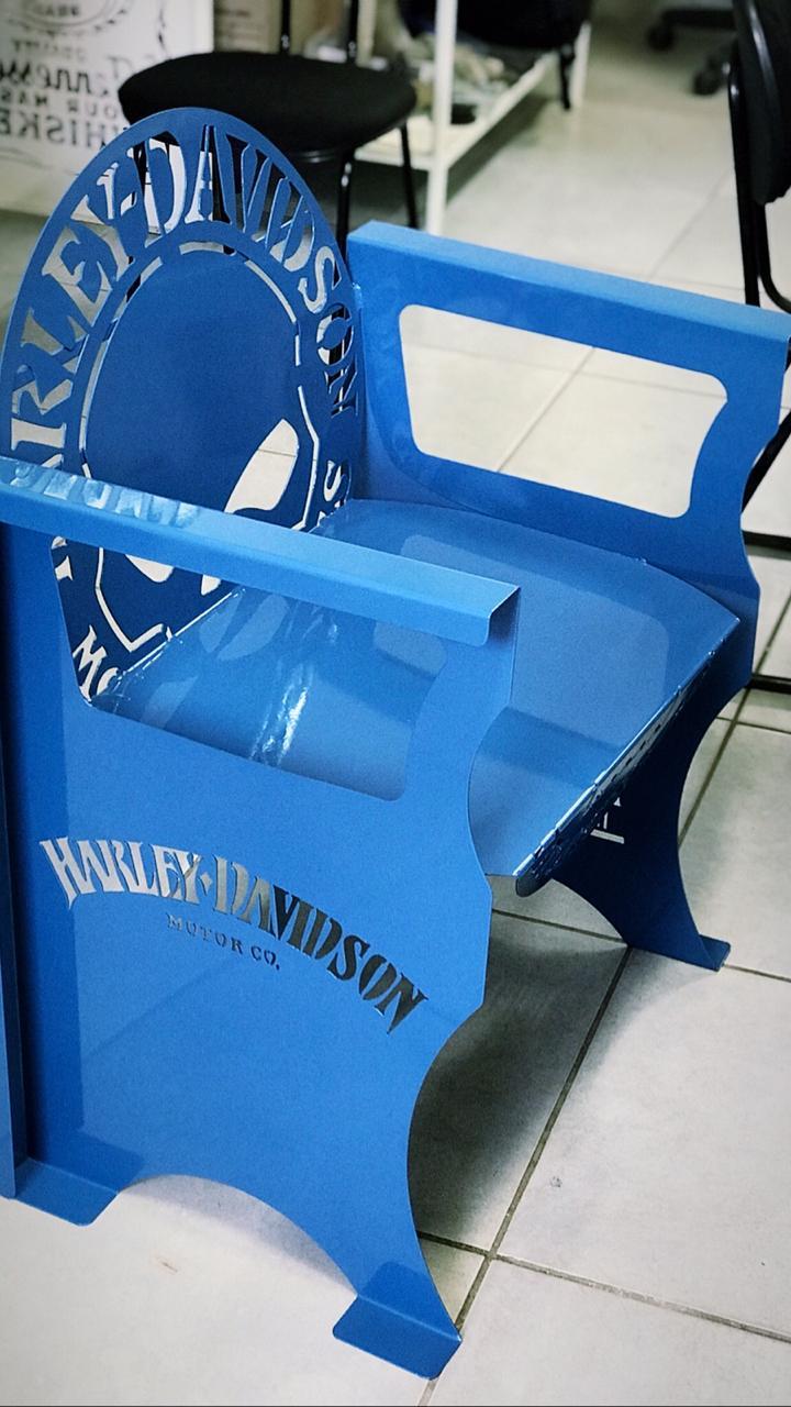 Poltrona SKULL Harley-Davidson 0,65 m Azul  - HDC Brasil