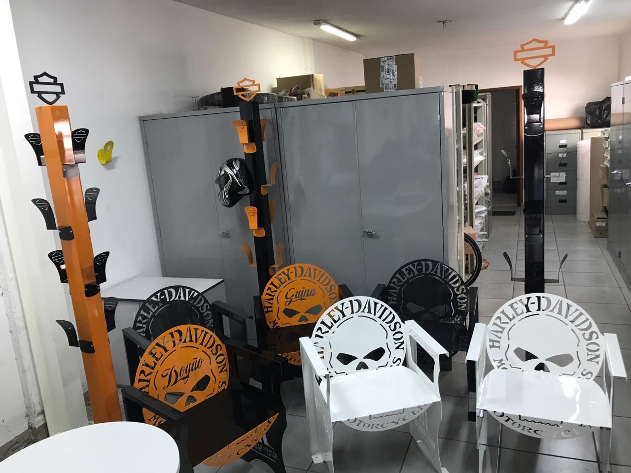 Poltrona SKULL Harley-Davidson 0,65 m BRANCA  - HDC Brasil