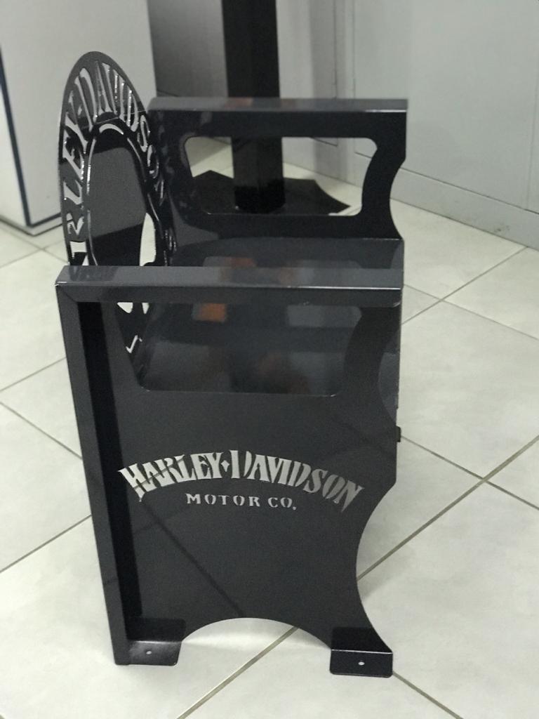 Poltrona SKULL Harley-Davidson 0,65 m CINZA  - HDC Brasil