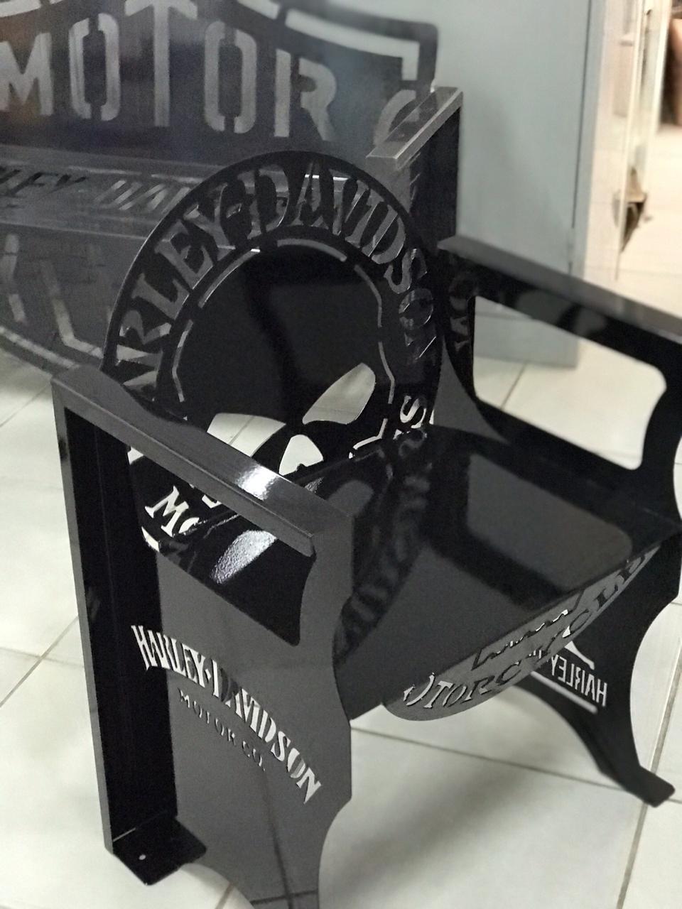 Poltrona SKULL Harley-Davidson 0,65 m PRETA  - HDC Brasil