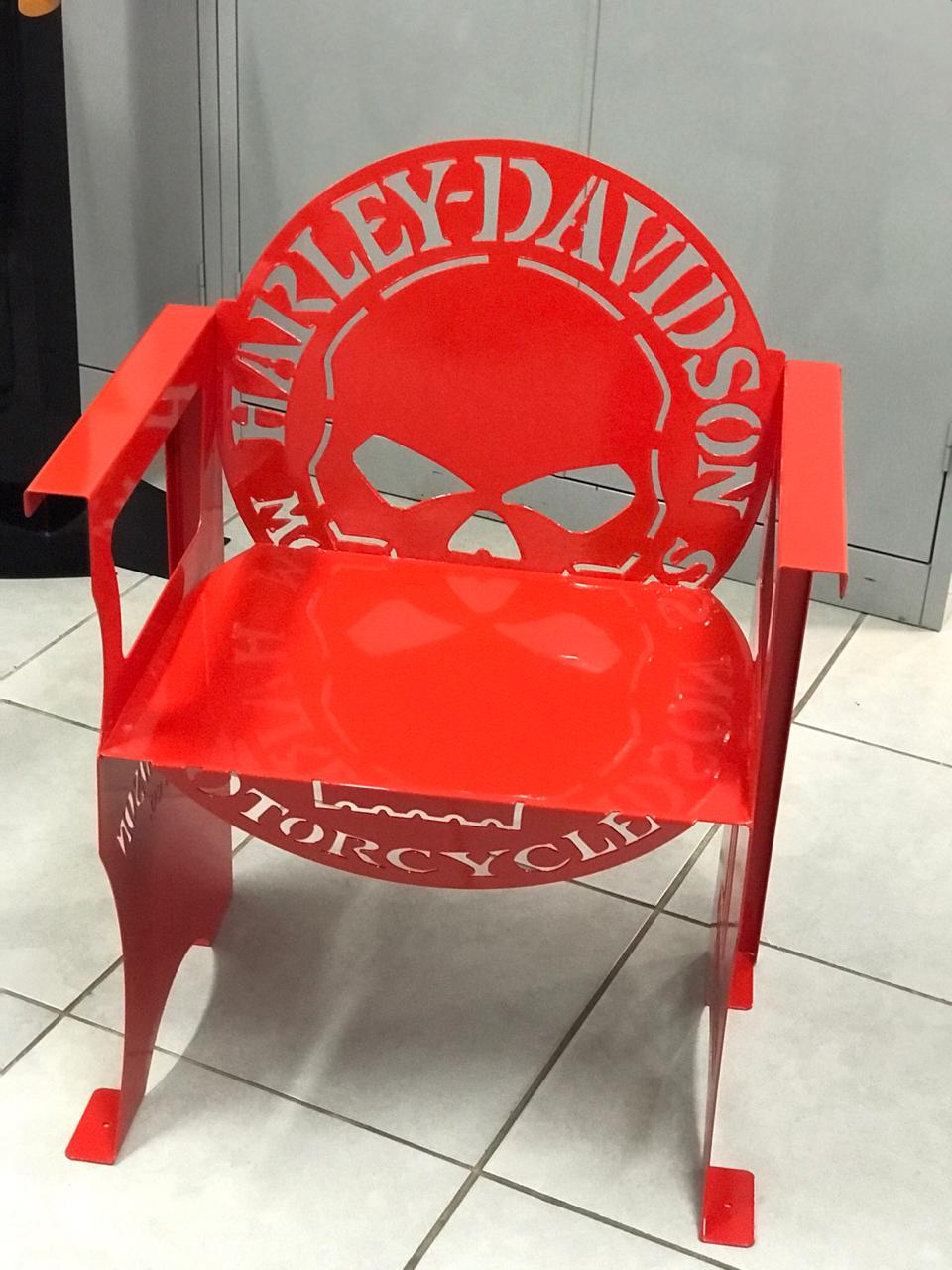 Poltrona SKULL Harley-Davidson 0,65 m Vermelha  - HDC Brasil