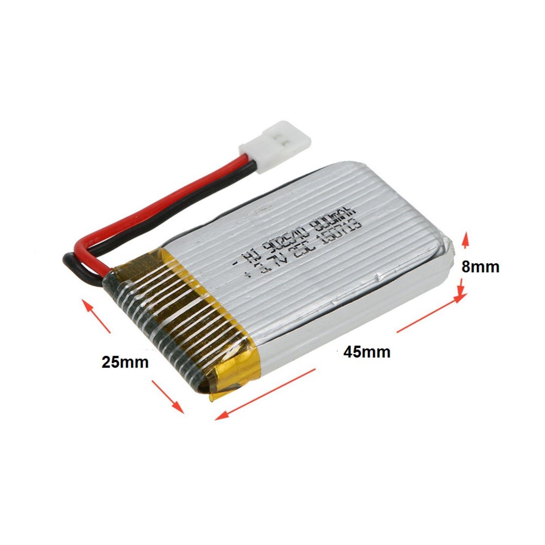 Kit 4 baterias 3.7v 800mah + Carregador Coletivo  Drone Syma X5 Candide  H18