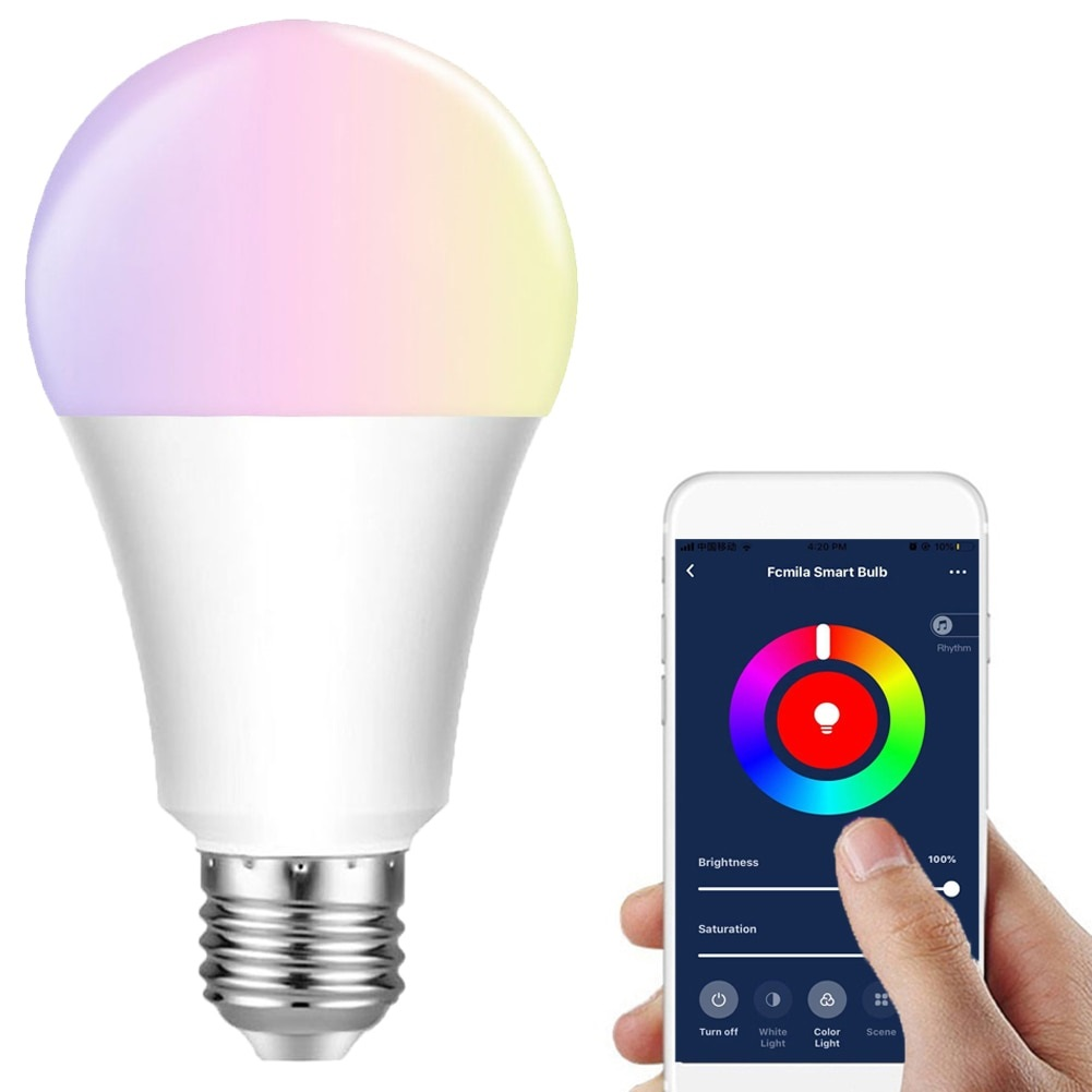 Lampada Inteligente Wifi 15w Led  Bivolt Colorida Programável Voz Alexa Google Home