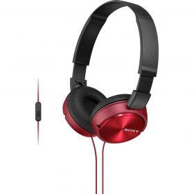 Fone de Ouvido com Microfone - Preto/Vermelho - SONY