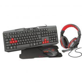 Kit Gamer - Teclado, Headset, Mouse e Mouse pad - Ziva 4 em 1 - Trust