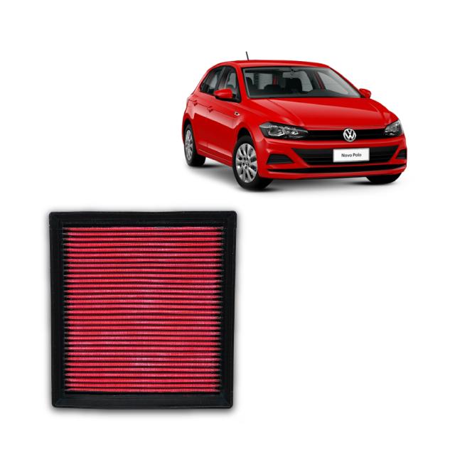 Filtro De Ar Alta Performance  VW Polo 1.6 MSI 2017->