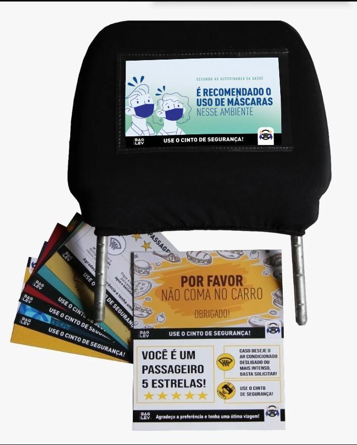 BAGLEV - Combo 2 - Bolsa Térmica TOP p/ Banco Carro + 2 Gelo Gel + 2 Capas Universais p/ Cabeceira + 1 Kit c/ 20 Informativos