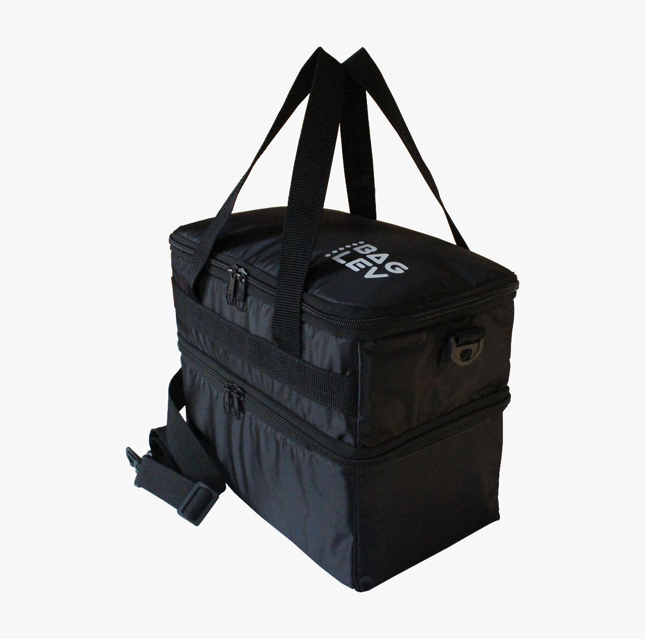 Bolsa Térmica Marmita Fitness Quente E Frio Bag Lev + Brinde