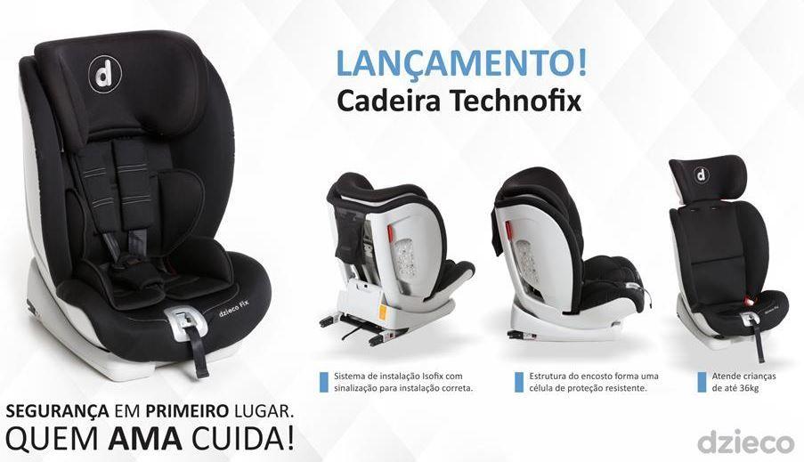 Cadeira Para Auto Technofix Preta Dzieco Galzerano