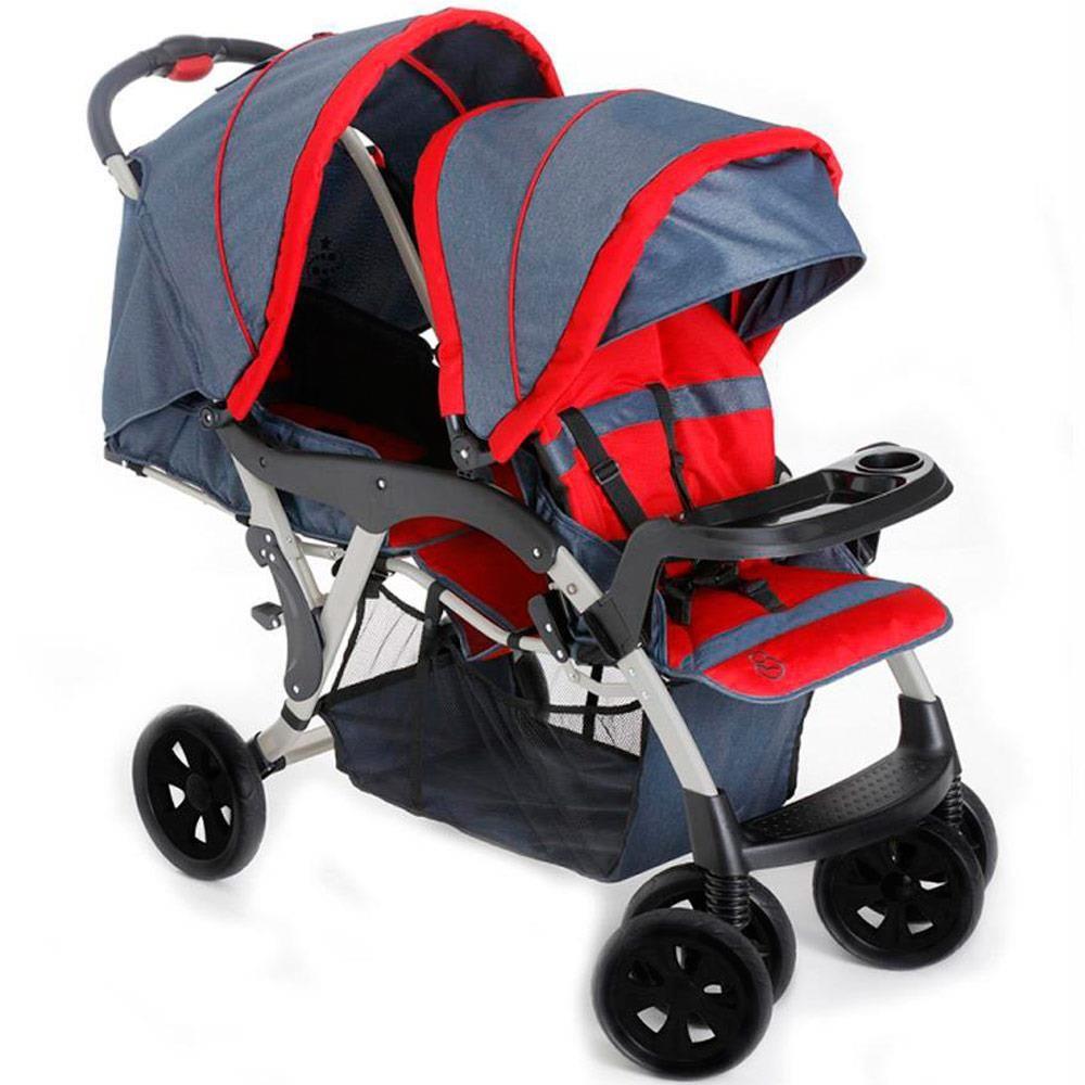 Carrinho de Bebê para Gêmeos Doppio 1385 Galzerano