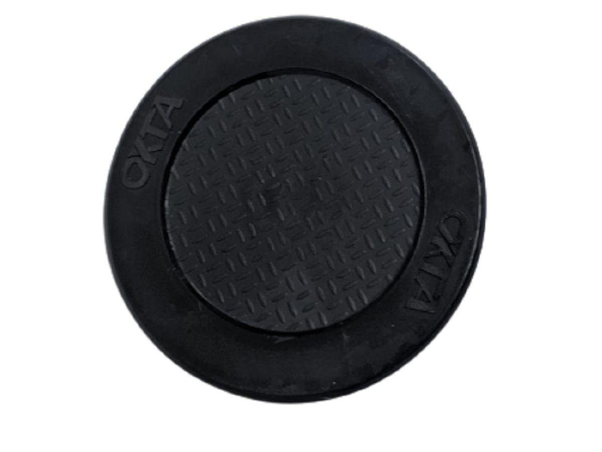 Apoio pezinho lateral borracha de descanso base tapete antiderrapante emborrachado p/ Moto