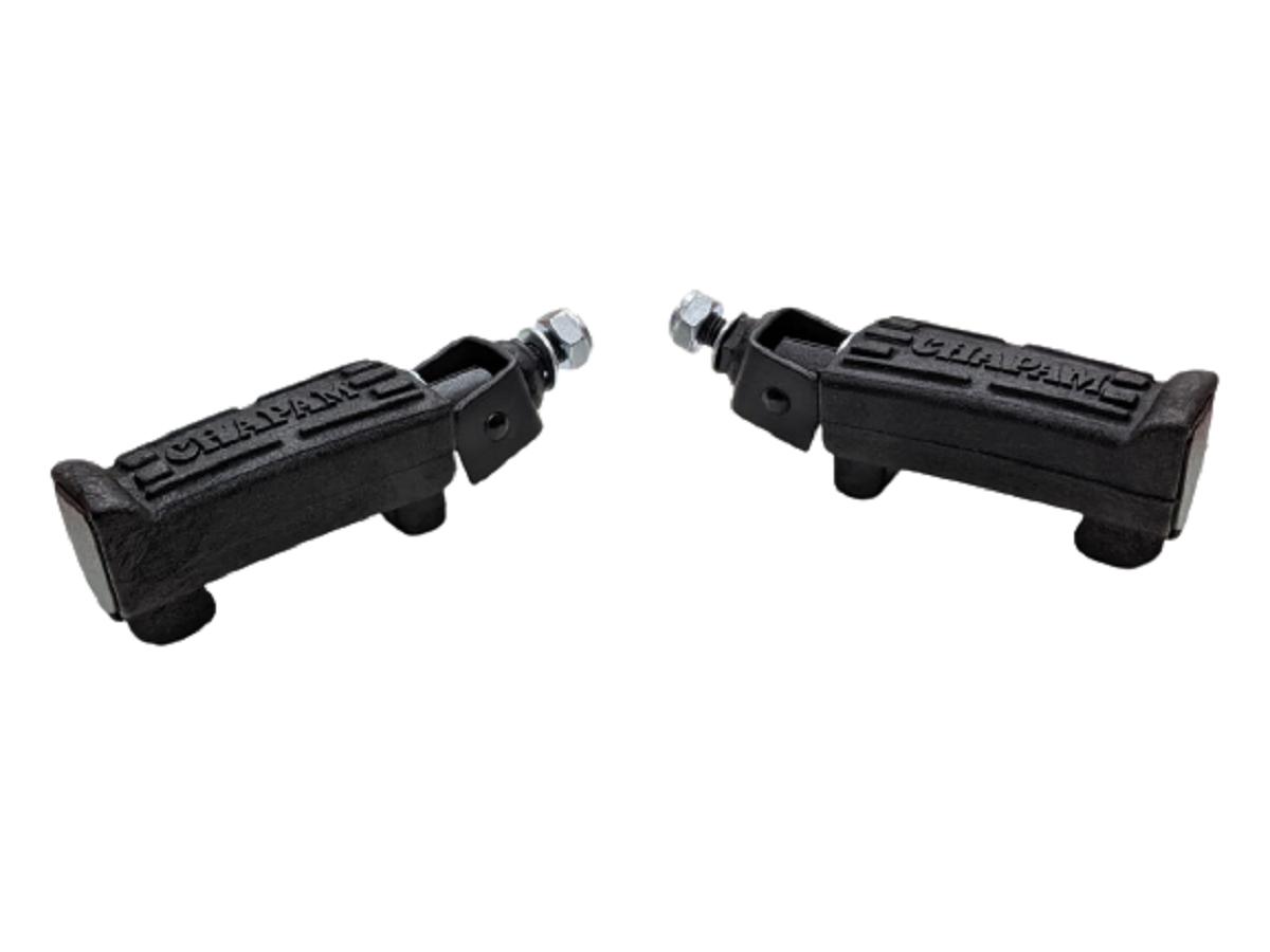 Par de pedaleira pedal p/ protetor dianteiro motor ferro dianteiro Apoio De Pé