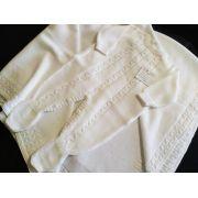 Saída de maternidade branca 2 peças