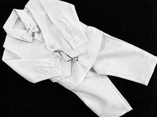 Conj. Colete, gravata borboleta roupa batizado menino