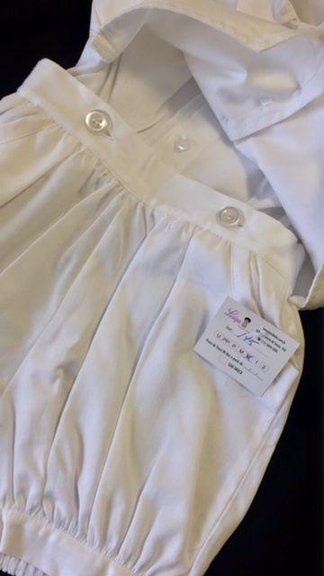 Conjunto bermuda, colete, camisa e lencinho cetim