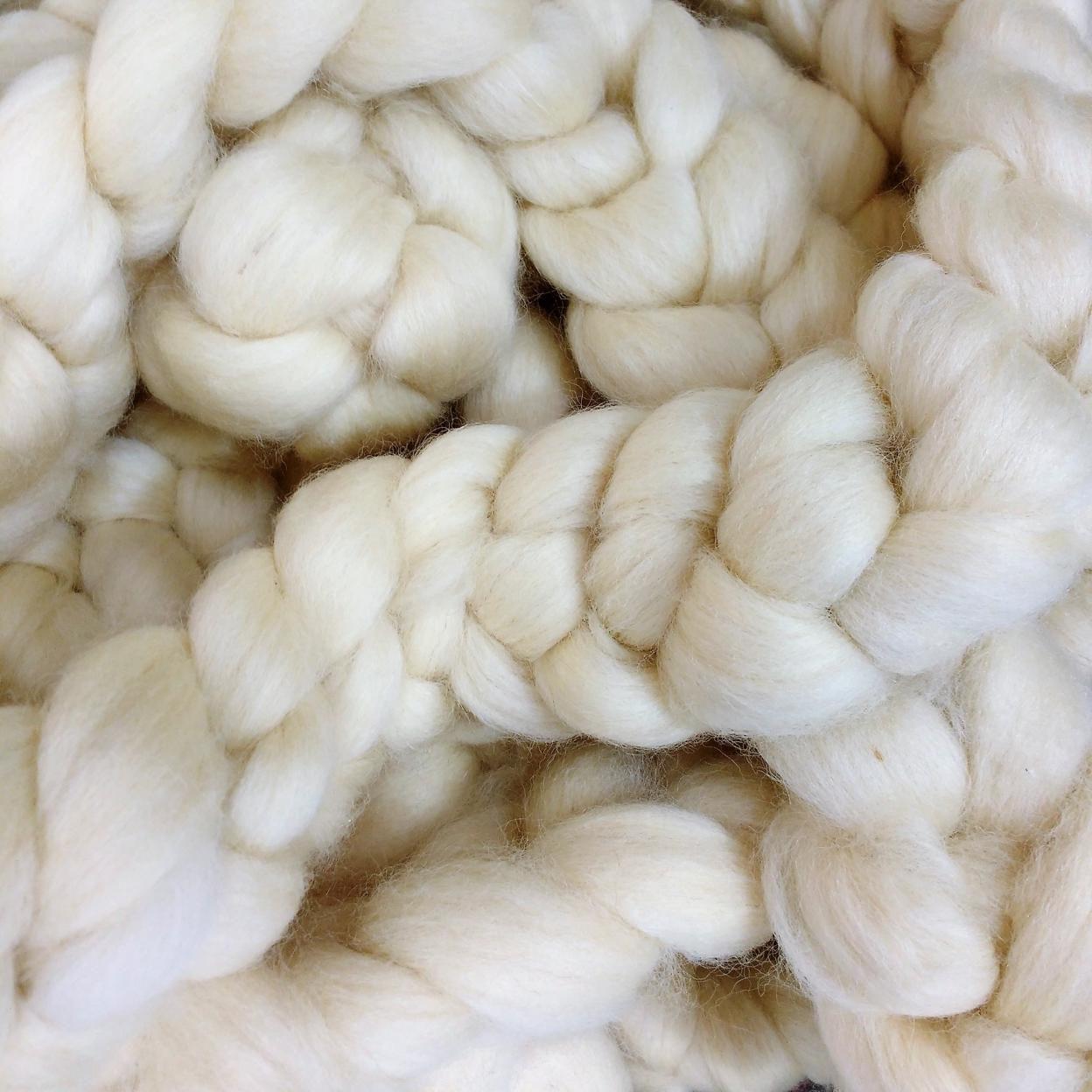 Lã Corriedale Branca Natural para Tricô Gigante