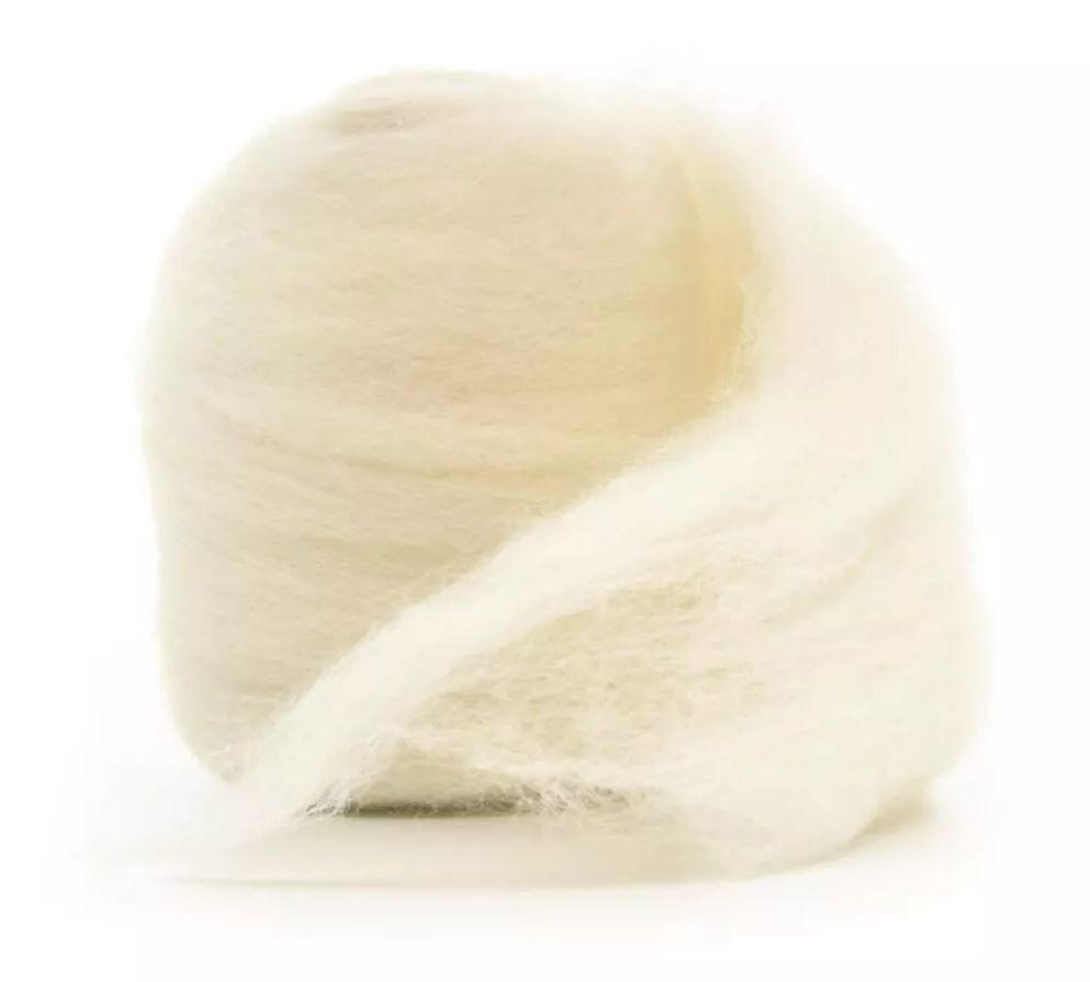 Lã Merino para Feltragem - Branca Natural - 50g
