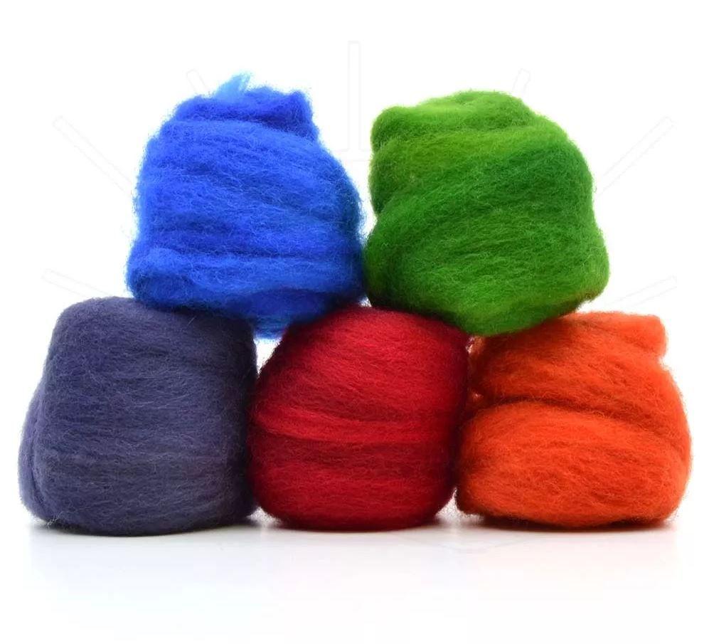 Lã Merino para Feltragem - Kit Intenso 5 x 10g