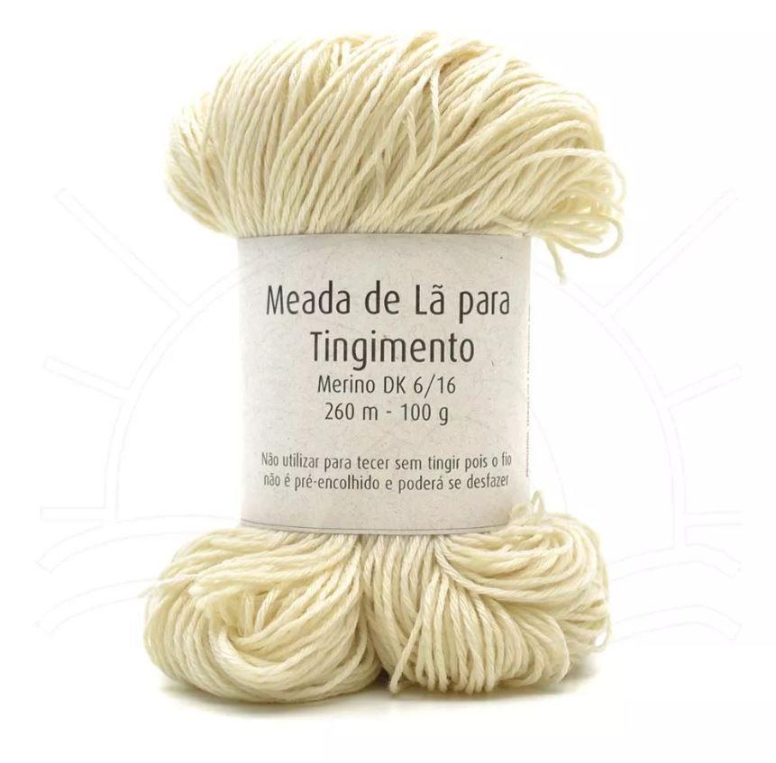 Meada de Lã para Tingimento Merino DK 6ply - 100g