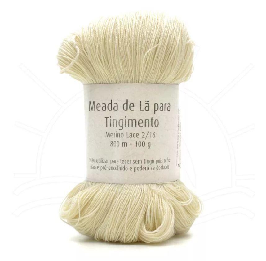 Meada de Lã para Tingimento Merino Lace 2ply - 100g