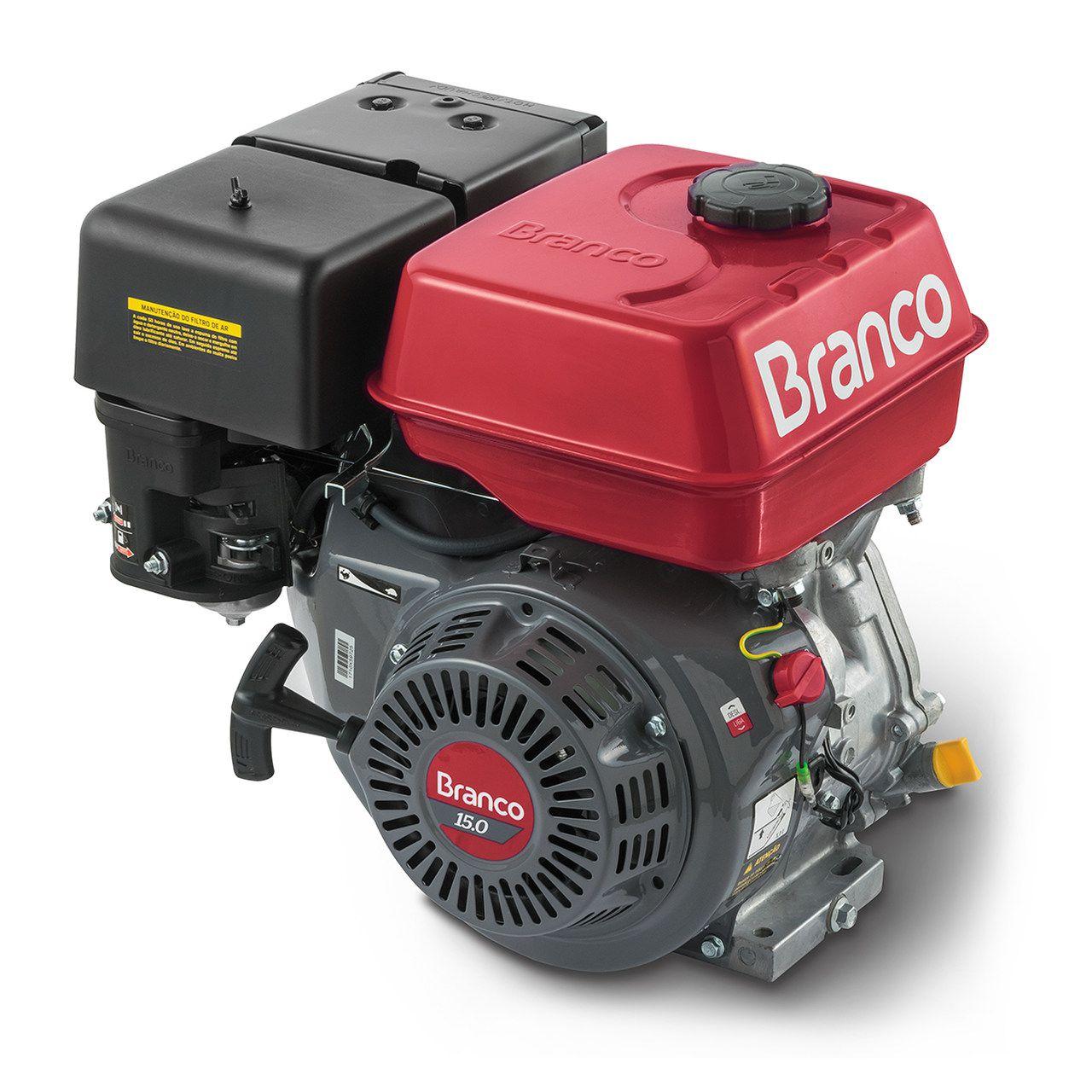 Motor gasolina Branco  B4T 15HP partida manual Gasolina