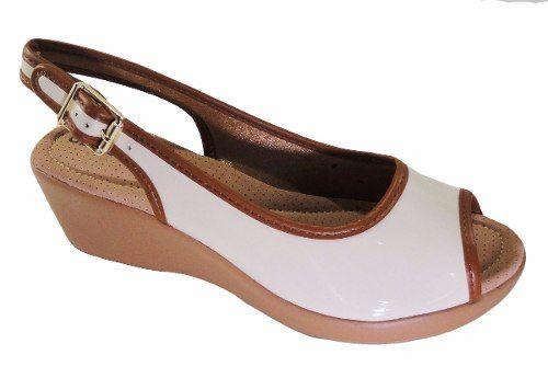 6082fd117 Sandalia Azaleia Verniz Conforto Salto 5cm - 604717 - Celeste Calçados