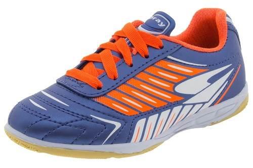 a33c69cec4 Tenis Dray Futsal Indoor Infantil - 302i - Celeste Calçados