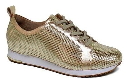 b7cfab0da Tenis Usaflex Trançado Feminino Original - V9113 - Celeste Calçados