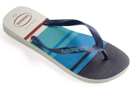 1c66669fdb Chinelo Havaianas Borracha Top Nautical - 1062 - Celeste Calçados